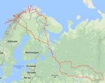 Карта поездки